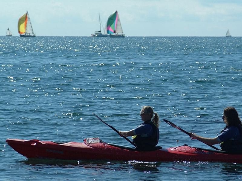 Sea Kayaking around Salcombe, Devon