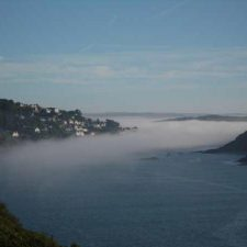 Misty View of Salcombe Estuary